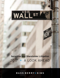 Securities and Shareholder Litigation 2017: A Look Ahead